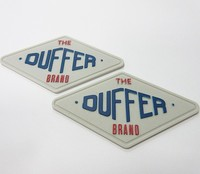 Custom 3d Silicone Raised Rubber Custom Patch
