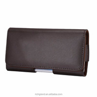 Universal Genuine Leather Belt Clip Phone Pouch Bag for iPhone 6 6S Plus 5 5S Vintage Case for Samsung Galaxy S6 S5 S4