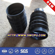 Custom molded convoluted plastic rubber bellow cover for dust