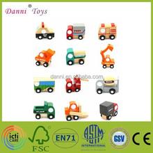 Factory Sale 12 Models a Set Mini Wooden Model Toy Car