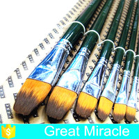 6pcs per set wholesale carved green wooden handle goody hair brush