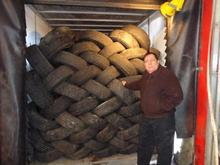 "40' Container Load of Used Tires - Size 14"" 15"" and 16"" 1000 Tires"
