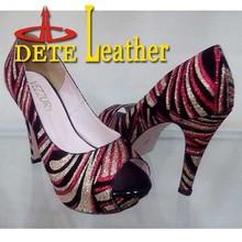 tela con brillo para los zapatos de surtidor de china