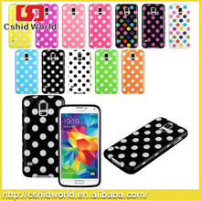 Factory supply Dot Pattern Hybrid Soft TPU caes for Samsung S5