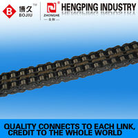 carbon stainless double pitch transmission roller chains