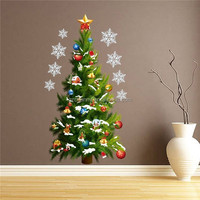 NEW Special Offer Christmas Tree Art Decal Wall Sticker PVC Removable Mural Stickers Home Decoration Room Decor