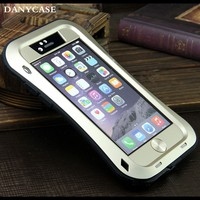 Cross line metal aluminum bumper case for iphone6/6plus,waterproof mobile cases