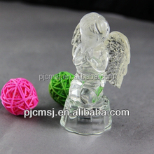 crystal angel with led light