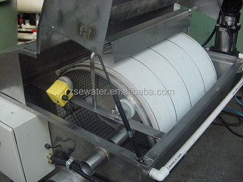 Rotary drum filter for aquaculture water treatment for Koi pond rotary drum filter