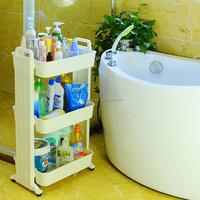 wholesale BYN 3-tier kitchen bathroom bedroom pp plastic storage utility cart DQ-1516 SZ