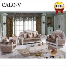 luxury antique dubai Oak carving sectional sofa set furniture for sale