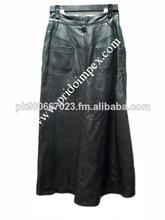 Las mujeres faldas de cuero/largas faldas de cuero