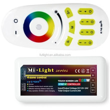 Milight 2.4G RF 4-Zone Touch RemoteControl+ WiFi Controller + RGBW LEDStrip Controller Group For Mi Light RGBStrip Light Bulb