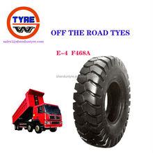 E4 off the road mining tires for scraper dump truck inner tube otr bias tyres