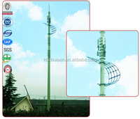Steel gsm antenna cellular telecommunication monopole tower