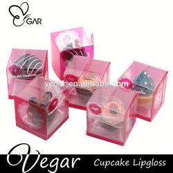 raw materials of lipstick cupcake shape container magic makeup lip gloss
