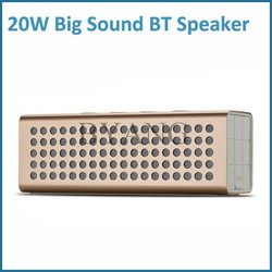 2015 20W square shape bluetooth speakers subwoofer with bass stereo sound