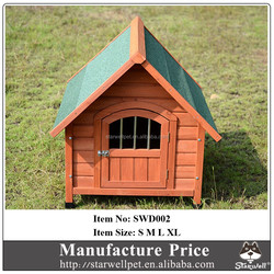 Factory cheap price wooden outdoor dog kennel with lockable door