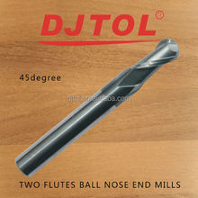 tungsten ball end mill (double flutes spiral ball end mill)