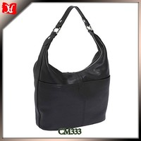 Luxury soft leather business and shopping laptop bag for women