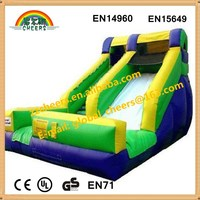 Giant cheap inflatable wet/dry slide with one lane