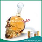 Nova chegada 500 ML Crystal Skull cabeça Vodka garrafa de vidro