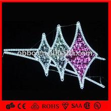 Multi-color led motif light street net lights