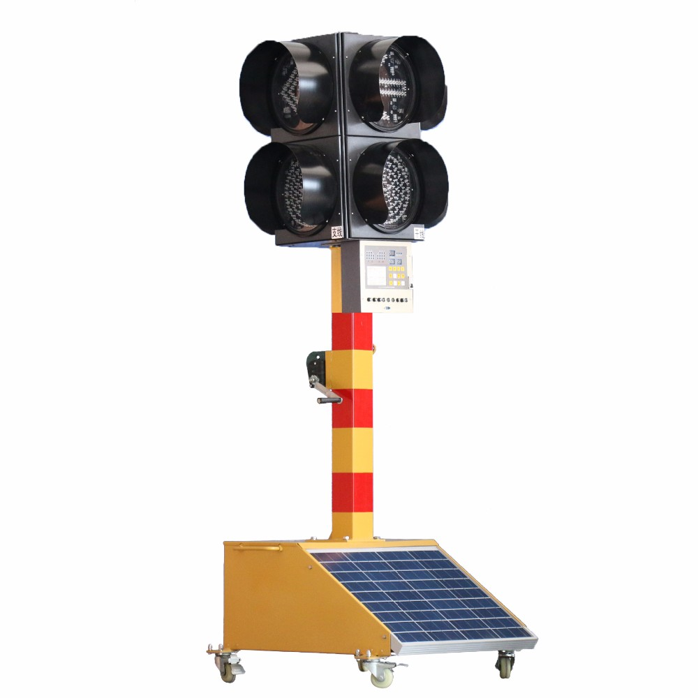 Pule Signal Lights With Panel Mobile Sign Road Traffic