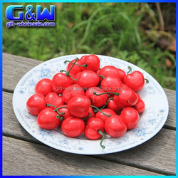 Plastic Mini Wedding Decorative Fruit Artificial Cherries - 3cm