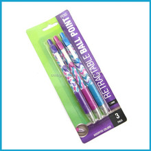 High quality Retractable promotional Plastic ballpoint pens with heat transfer printing