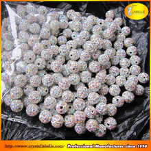 AB color shamballa beads crystal beads for beaded bracelet and shamballa jewelry