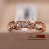 Bright Zircon Fashion Women Wedding/Party Ring prong set girls ring