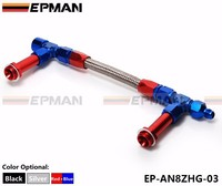 EPMAN AN8-8AN Dual Feed Fuel Line Dual Feed Carb Fuel Line Kit Color:blue with red EP-AN8ZHG-03