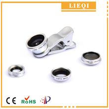Óptico lentes de fotos con 0.65x gran angular + macro + ojo de pez + Cpl lente Original lieqi