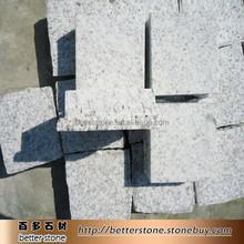 Wendeng White Grain G359 white granite cube ,paving stone