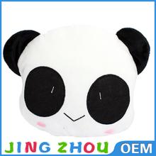 panda plush cushion,plush stuffed panda cushion ,custom plush panda cushion