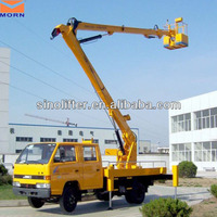 Articulated hydraulic truck mounted small boom lifts