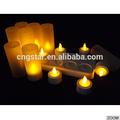 Forma de pilar vela del led/vela eléctrica recargable de luz de color amarillo