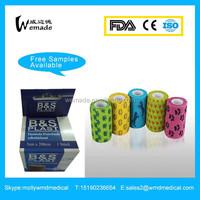 Medical Cotton hemostasis dog Self-adhesive bandage printed Cohesive Bandage with high quality