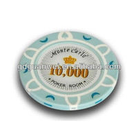 China color and logo customized plastic number stickers for poker chip