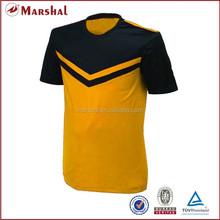 Orange black football stock jerseys blank football kits jerseys soccer from thailand