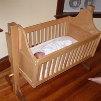 Factory best selling baby wooden swing bed