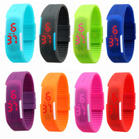 2015 New fashion unisex colorfull touch led digital watch waterproof led watch instructions