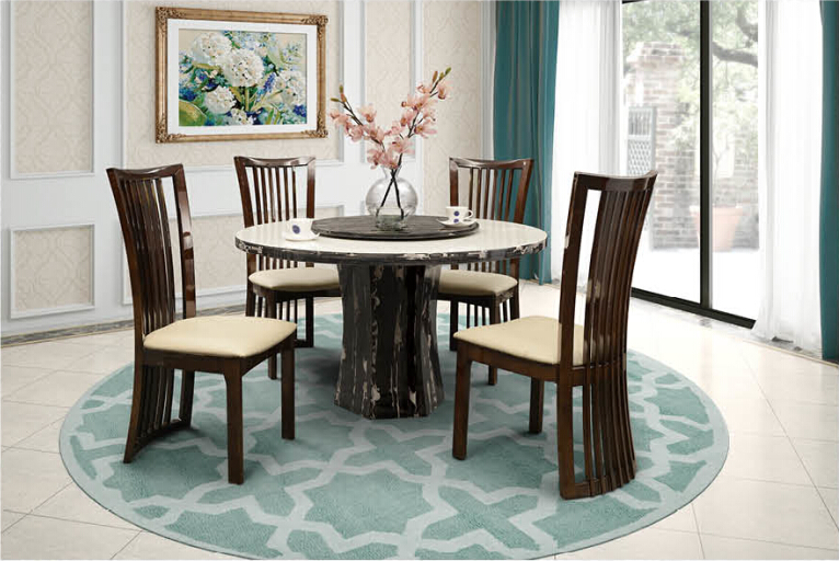 Modern Simple Design Malaysia Marble Dining Table Sets For