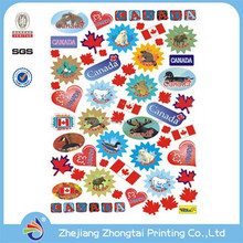 Cheap colourful removable cartoon PVC window stickers