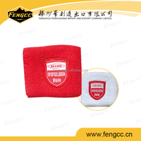 Promotional sport customized embroidery logo towel cotton wristband