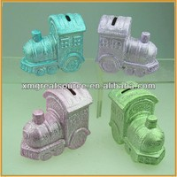 Chinese export fancy train model custom coin bank