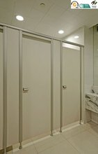 Casino High pressure compact laminate Toilet Partition fire resistance water proof aluminium alloy accessories