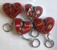 novelty loving heart broken shape gas lighter