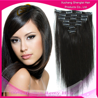 20inch top qualiy free tangle no shedding no lice clip in hair extension ,virgin hair extension,human hair weave
